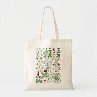 Botanische Illustrationen - Larousse Pflanzen Budget Stoffbeutel
