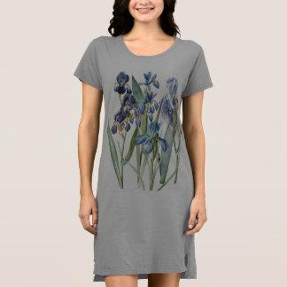 Botanische Iris-Blumen-Blumengarten Redoute Kleid