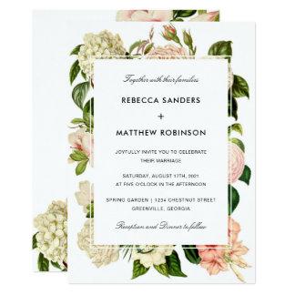 Botanische moderne Hochzeits-Einladung 12,7 X 17,8 Cm Einladungskarte