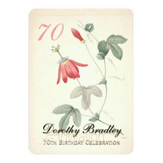 Botanische Passionsblumen-70. 12,7 X 17,8 Cm Einladungskarte