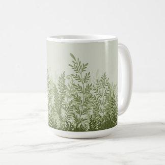 Botanische Pflanzen-Illustrations-Tasse Kaffeetasse
