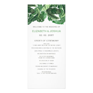 Botanische Programme Hochzeit des tropischen Kartendruck