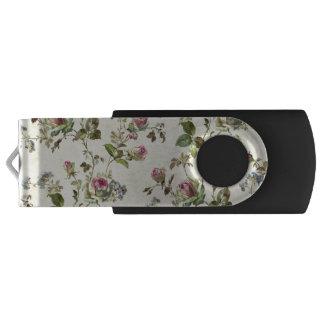 botanische rosa und blaue Blumen kopieren alle USB Stick