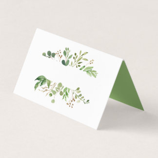 Botanische rustikale Grün-TraumPlatzkarten Platzkarte