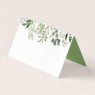 Botanische rustikale TraumPlatzkarten des Grün-#2 Platzkarte