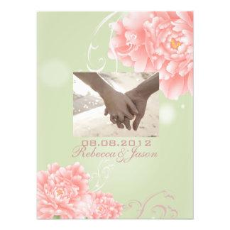 Botanische tadellose rosa Pfingstrosenhochzeit des Photodruck