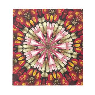 Botanische Traum-Mandala Notizblock