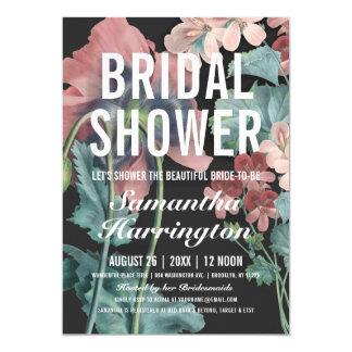 Botanische Umarmungs-Brautparty-Einladungen Karte