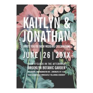 Botanische Umarmungs-Hochzeits-Einladungen Karte