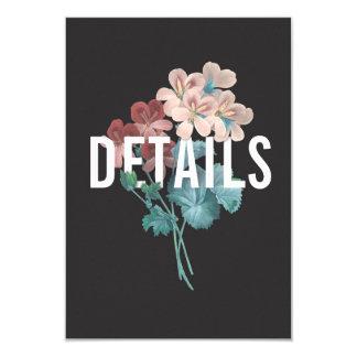 Botanische Umarmungs-Hochzeits-Einzelkarte Karte