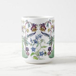 Botanische wilde BlackBerryborage-Blumen-Tasse Kaffeetasse
