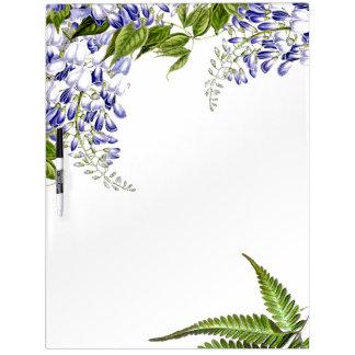 Botanische Wisteria-Blumen-Farne trocknen Trockenlöschtafel