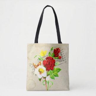 Botanischer Blumenstrauß von BlumenRetro Mit Tasche