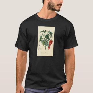 Botanischer Druck - Chili - spanischer Pfeffer T-Shirt