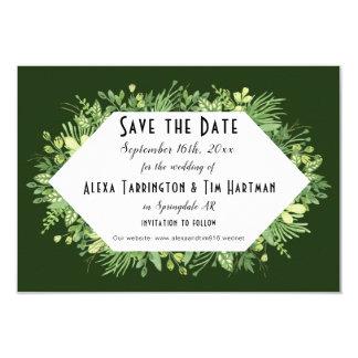Botanischer Garten, der Save the Date Antrag Karte