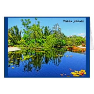 Botanischer Garten Neapels Florida - Karte