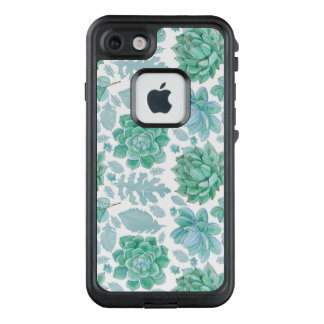 Botanisches saftiges Muster, moderne Natur LifeProof FRÄ' iPhone 8/7 Hülle