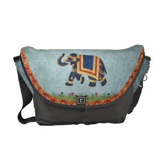 Bote-Tasche Gold des blauen Graus des Elefanten ro Kurier Tasche