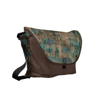 Bote-Tasche Vintage Typobraun-Türkisfranzosen Kuriertaschen