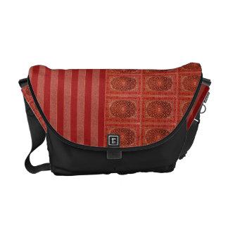 Bote-Taschenverzierungsrot stripes orange Muster Kuriertaschen