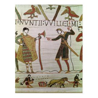 Boten von Herzog William kamen, Zählung zu finden Postkarte