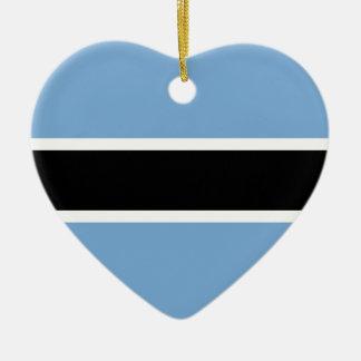 Botswana-Flagge Keramik Ornament