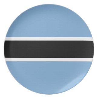 Botswana-Flagge Melaminteller