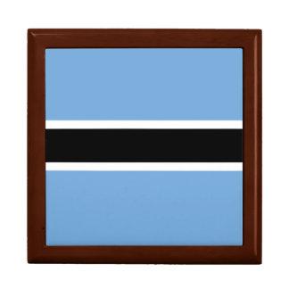Botswana-Flagge Schmuckschachtel