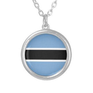 Botswana-Flagge Versilberte Kette