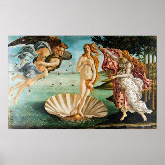 BOTTICELLI - Die Geburt von Venus 1483 Poster