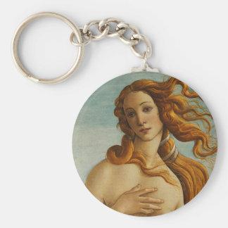 Botticelli die Geburt von Venus (nahe hohe) Standard Runder Schlüsselanhänger