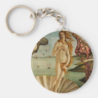 Botticelli die Geburt von Venusschlüsselkette Standard Runder Schlüsselanhänger