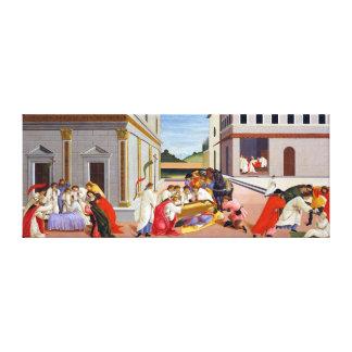 Botticelli drei Wunder des Heiligen Zenobius Leinwanddruck