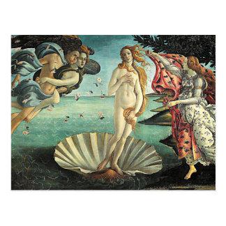 botticelli Geburt von Venus Postkarte