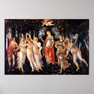 BOTTICELLI - Primavera 1482 Poster