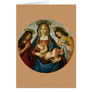 Botticellis Madonna und Kind Karte