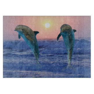 Bottlenose-Delphin am Sonnenaufgang Schneidebrett