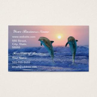 Bottlenose-Delphin am Sonnenaufgang Visitenkarte