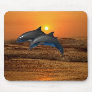 Bottlenose-Delphin am Sonnenuntergang Mousepads