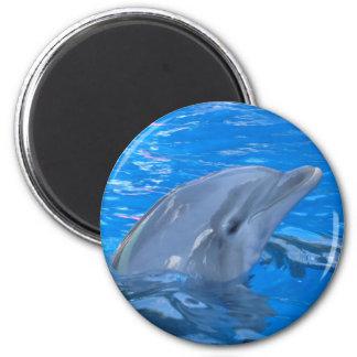 Bottlenose-Delphin-runder Magnet Runder Magnet 5,7 Cm