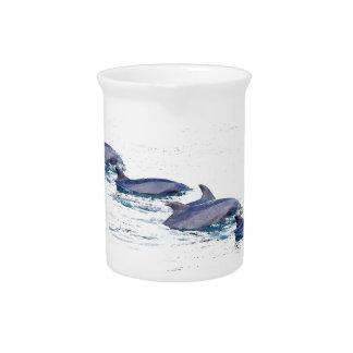 Bottlenose-Delphin-Tier-Tier-Ozean Getränke Pitcher