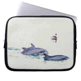 Bottlenose-Delphin-Tier-Tier-Ozean Laptop Sleeve