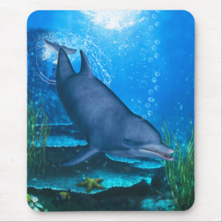 Bottlenose-Delphin Unterwasser Mousepad
