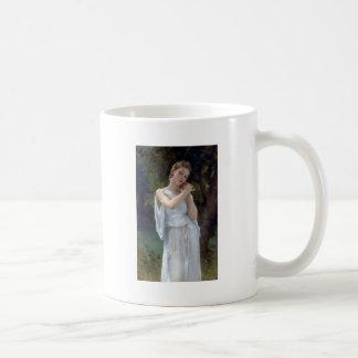 Bouguereau die junge Frau der Ohrringe Kaffeetasse