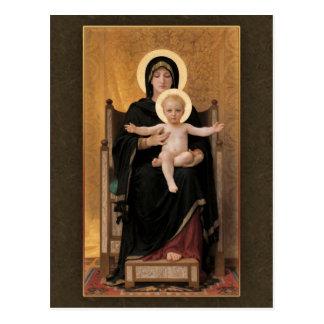Bouguereau Jungfrau und Kind CC0271 Postkarte