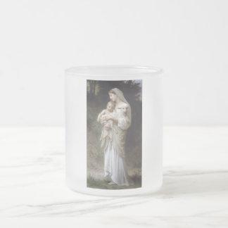 Bouguereau Unschulds-Dame Child Lamb Mattglastasse