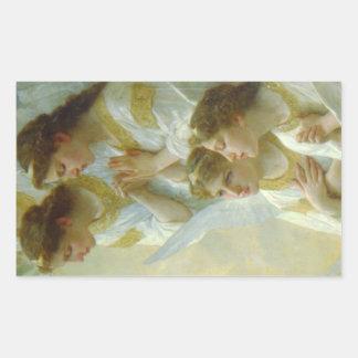 Bouguereau Weihnachtsengel 1900 Rechteckiger Aufkleber