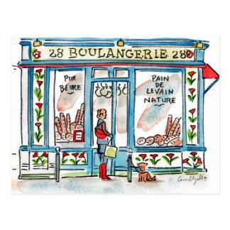 BOULANGERIE 28 Paris Aquarell Postkarte