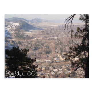 Boulder, Colorado von oben Postkarte