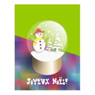 Boule ein neige Schnekugel-Karte postale Postkarte